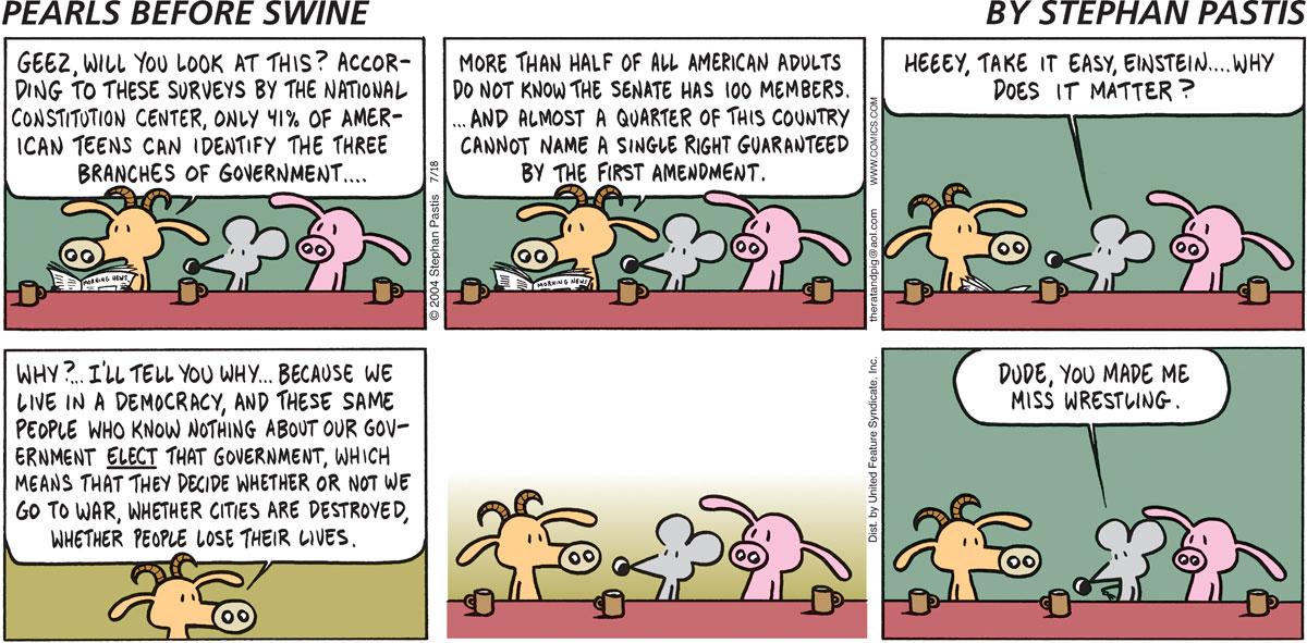 Pearls Before Swine Comic Strip for July 18, 2004