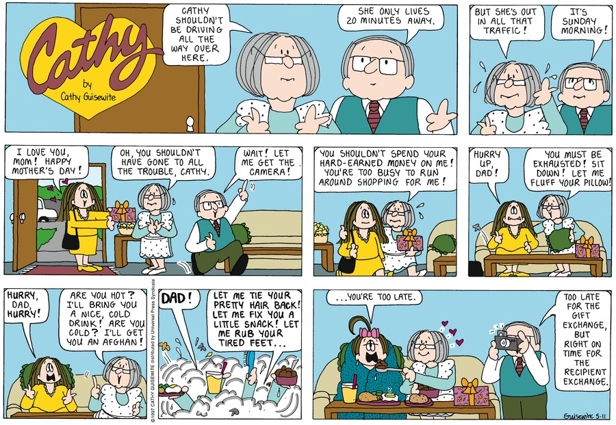 Cathy for May 11, 1997 Comic Strip