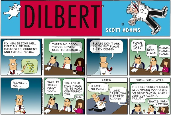Dilbert - Sunday February 9, 2003 Comic Strip
