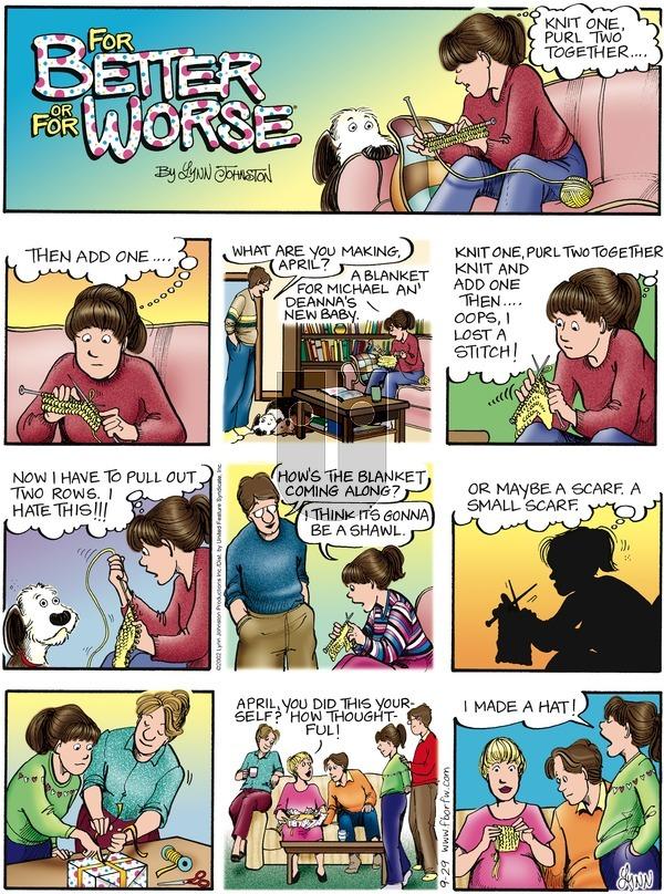 For Better or For Worse on Sunday September 29, 2002 Comic Strip