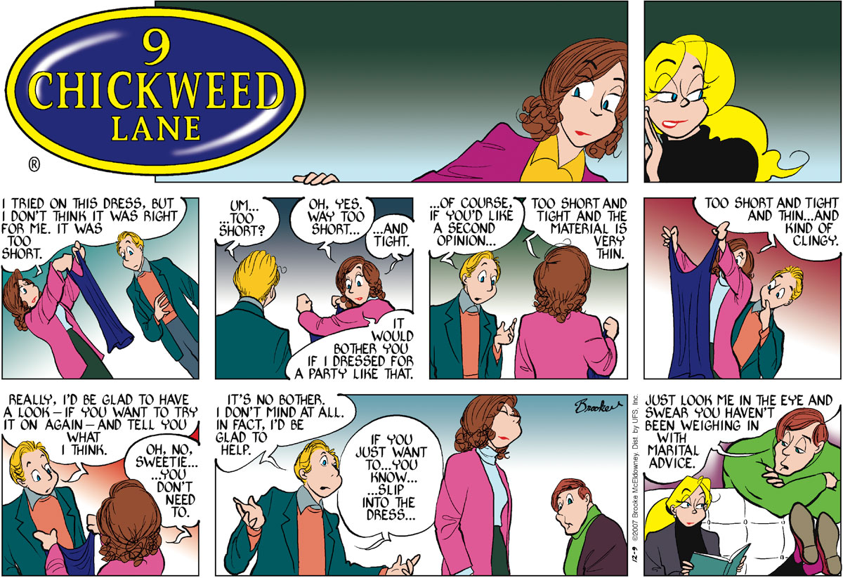 9 Chickweed Lane for Dec 9, 2007 Comic Strip
