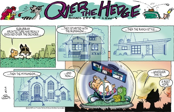 Over the Hedge on Sunday April 5, 2020 Comic Strip