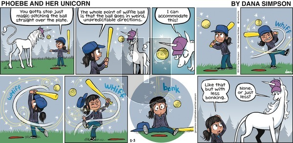 Phoebe and Her Unicorn on Sunday February 3, 2019 Comic Strip
