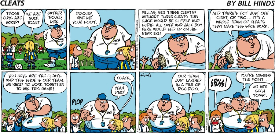 Cleats Comic Strip for December 02, 2001