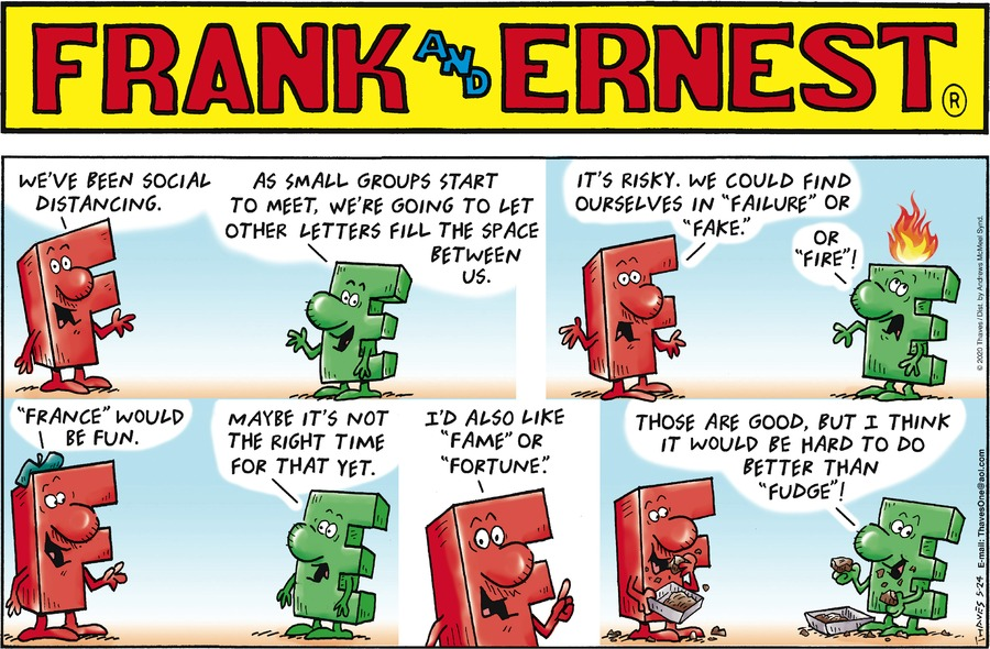 Frank and Ernest Comic Strip for May 24, 2020