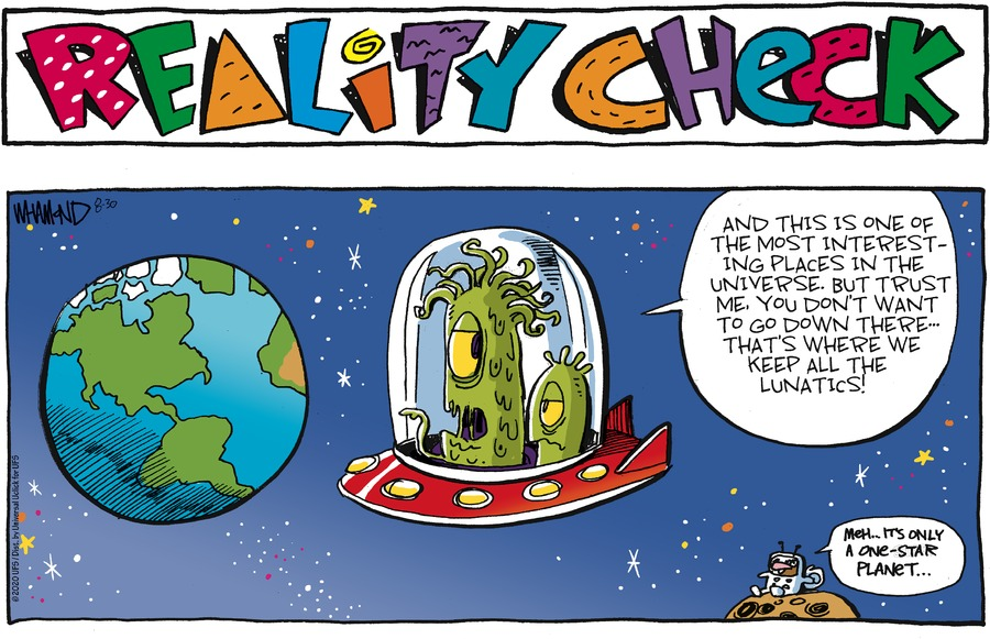 Reality Check Comic Strip for August 30, 2020