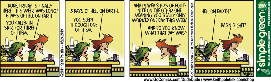 Dude and Dude Comic Strip for May 24, 2019
