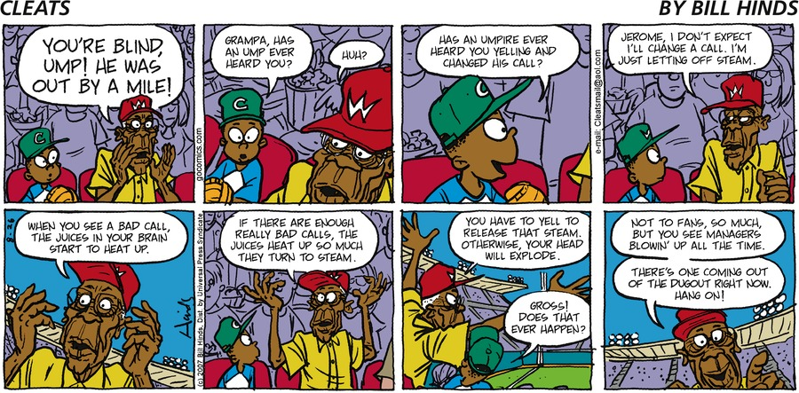 Cleats Comic Strip for August 26, 2007