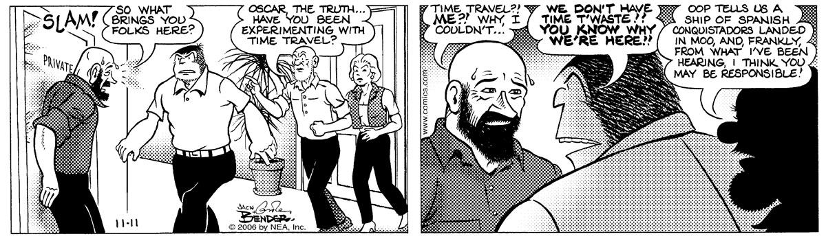 Alley Oop for Nov 11, 2006 Comic Strip