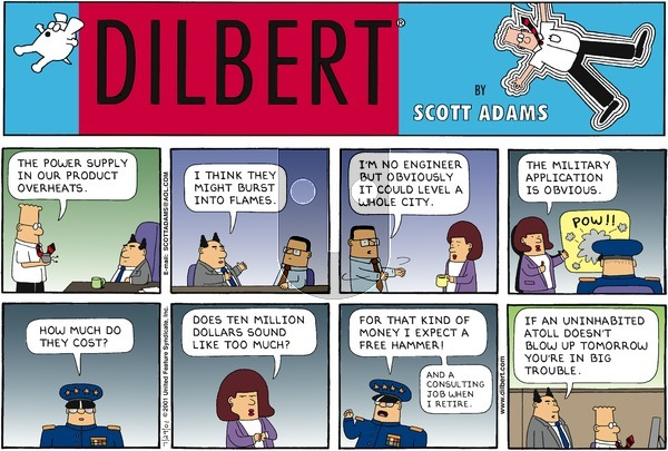 Dilbert - Sunday July 29, 2001 Comic Strip