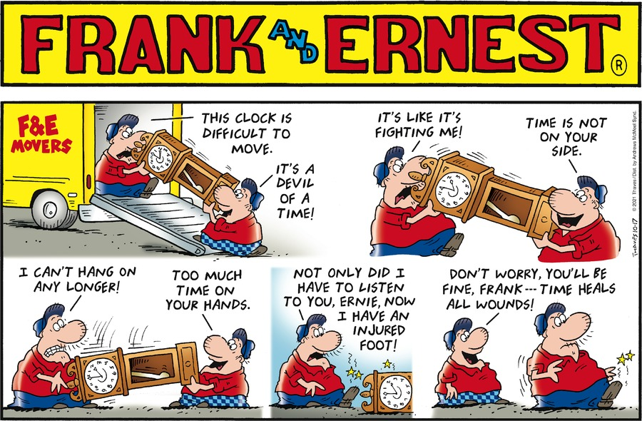 Frank and Ernest by Thaves on Sun, 17 Oct 2021