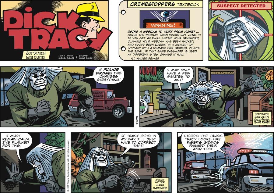 Dick Tracy Comic Strip for November 29, 2020