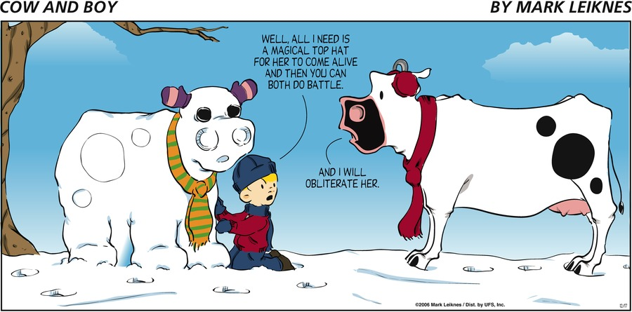 Cow and Boy Classics Comic Strip for December 17, 2006