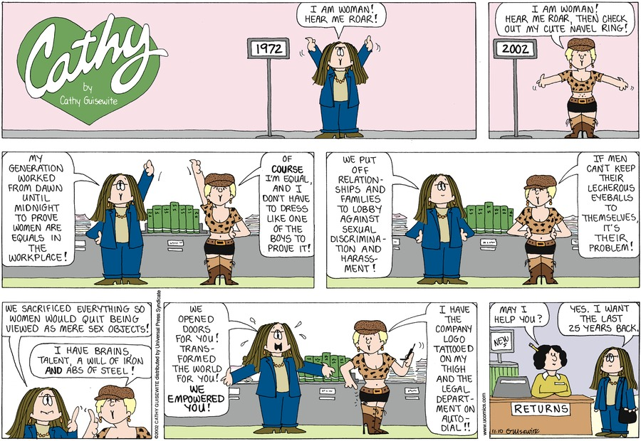Cathy for Nov 10, 2002 Comic Strip