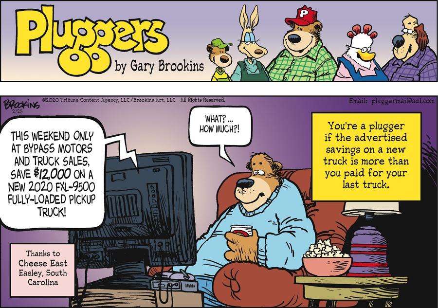 Pluggers by Gary Brookins on Sun, 23 Feb 2020