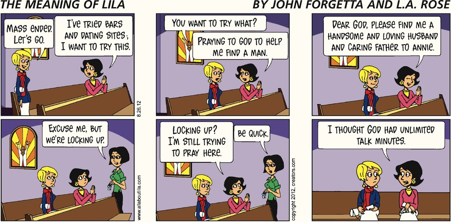 The Meaning of Lila Comic Strip for August 26, 2012