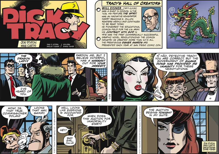 Dick Tracy Comic Strip for January 29, 2017