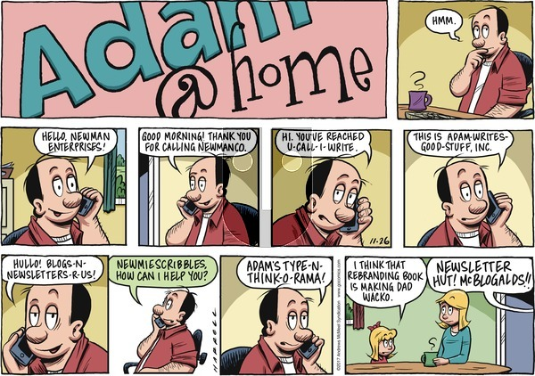 Adam@Home on Sunday November 26, 2017 Comic Strip