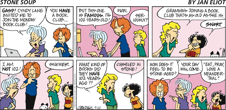 Stone Soup Comic Strip for September 22, 2013