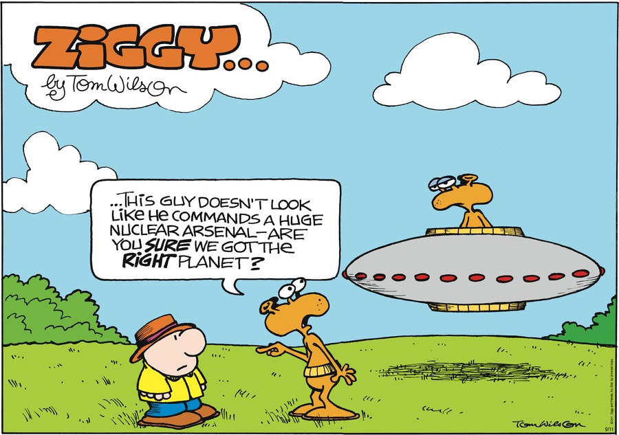 Ziggy Comic Strip for September 11, 2011