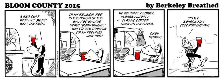 Bloom County 2019 Comic Strip for December 15, 2015