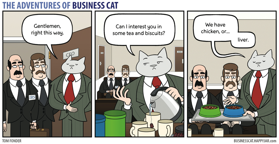 The Adventures of Business Cat Comic Strip for August 14, 2017