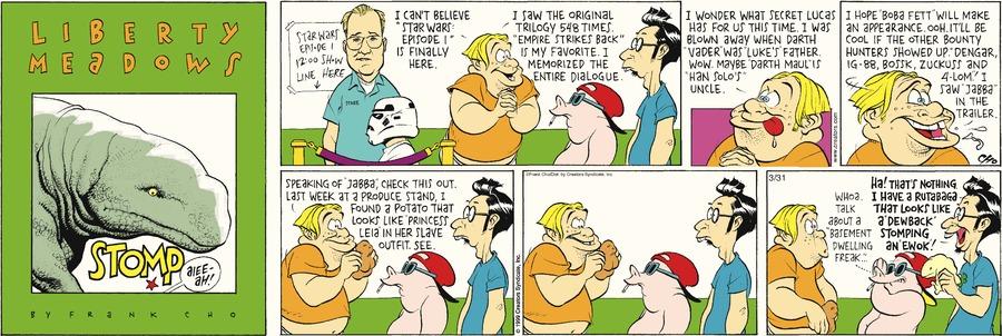Liberty Meadows for Mar 31, 2013 Comic Strip