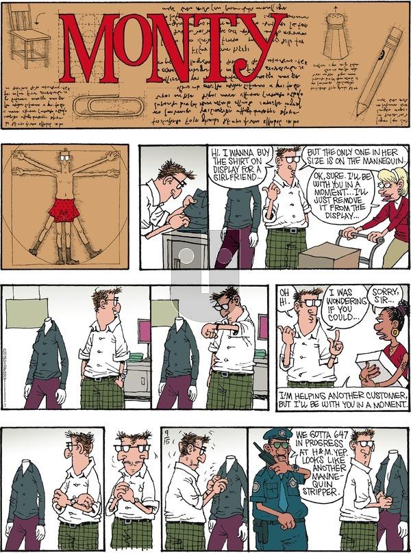 Monty - Sunday September 15, 2019 Comic Strip