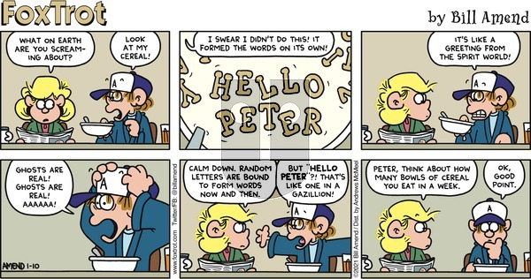 FoxTrot on Sunday January 10, 2021 Comic Strip