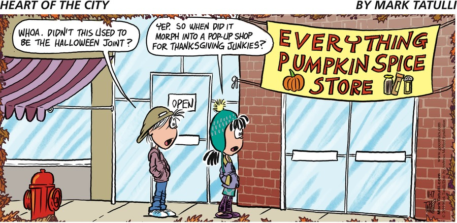 Heart of the City Comic Strip for November 17, 2019