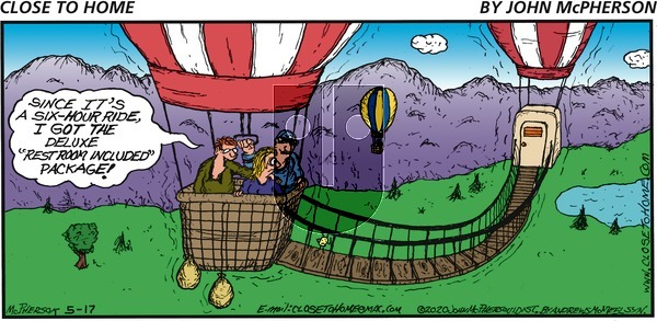 Close to Home on Sunday May 17, 2020 Comic Strip