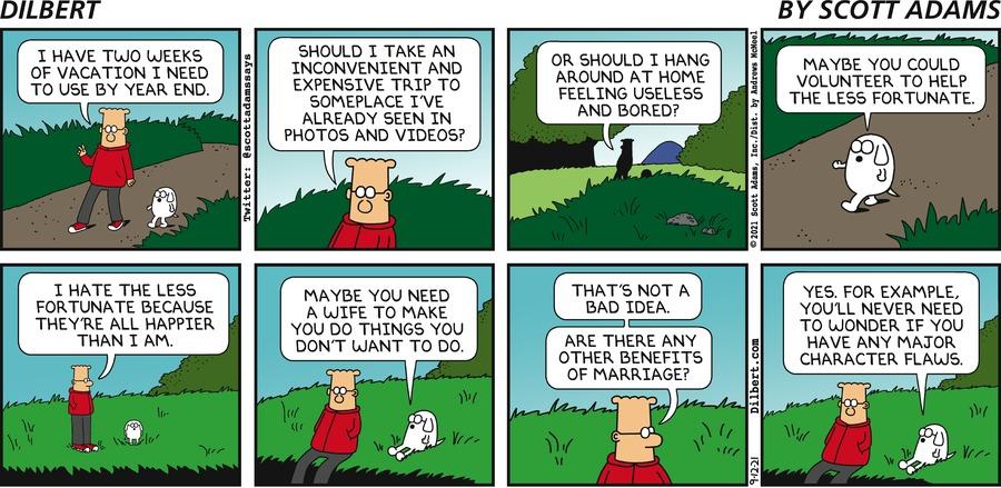 Dilbert Has Vacation Days  - Dilbert by Scott Adams