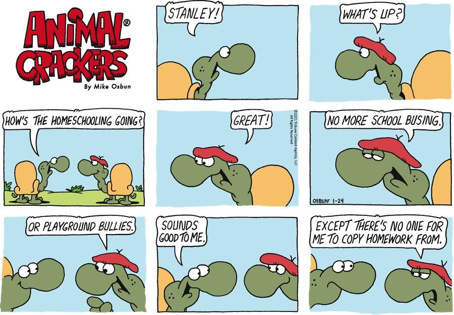 Animal Crackers Comic Strip for January 24, 2021