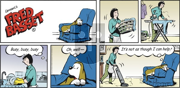 Fred Basset - Sunday March 15, 2020 Comic Strip