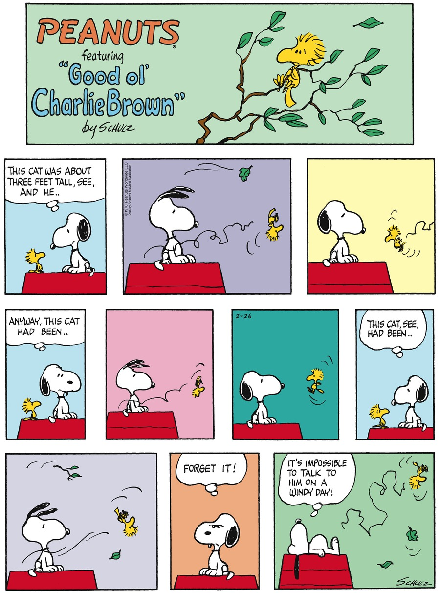 Peanuts Comic Strip for February 26, 2017