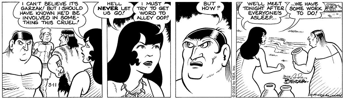 Alley Oop for Mar 11, 2002 Comic Strip