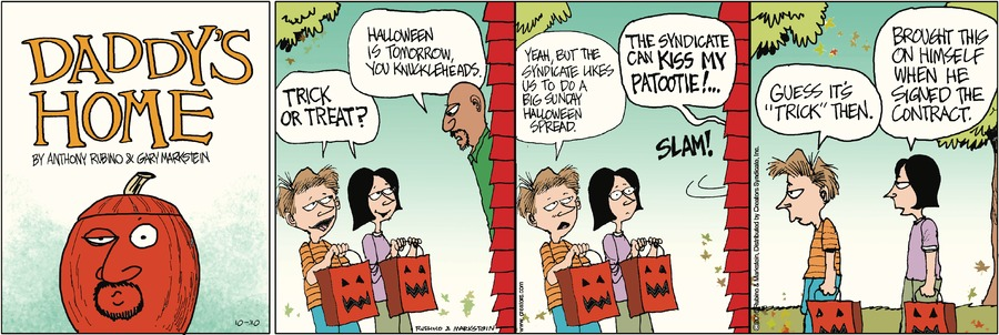 Daddy's Home Comic Strip for October 30, 2016