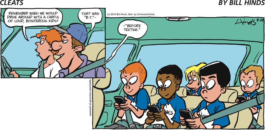 Cleats Comic Strip for August 25, 2019