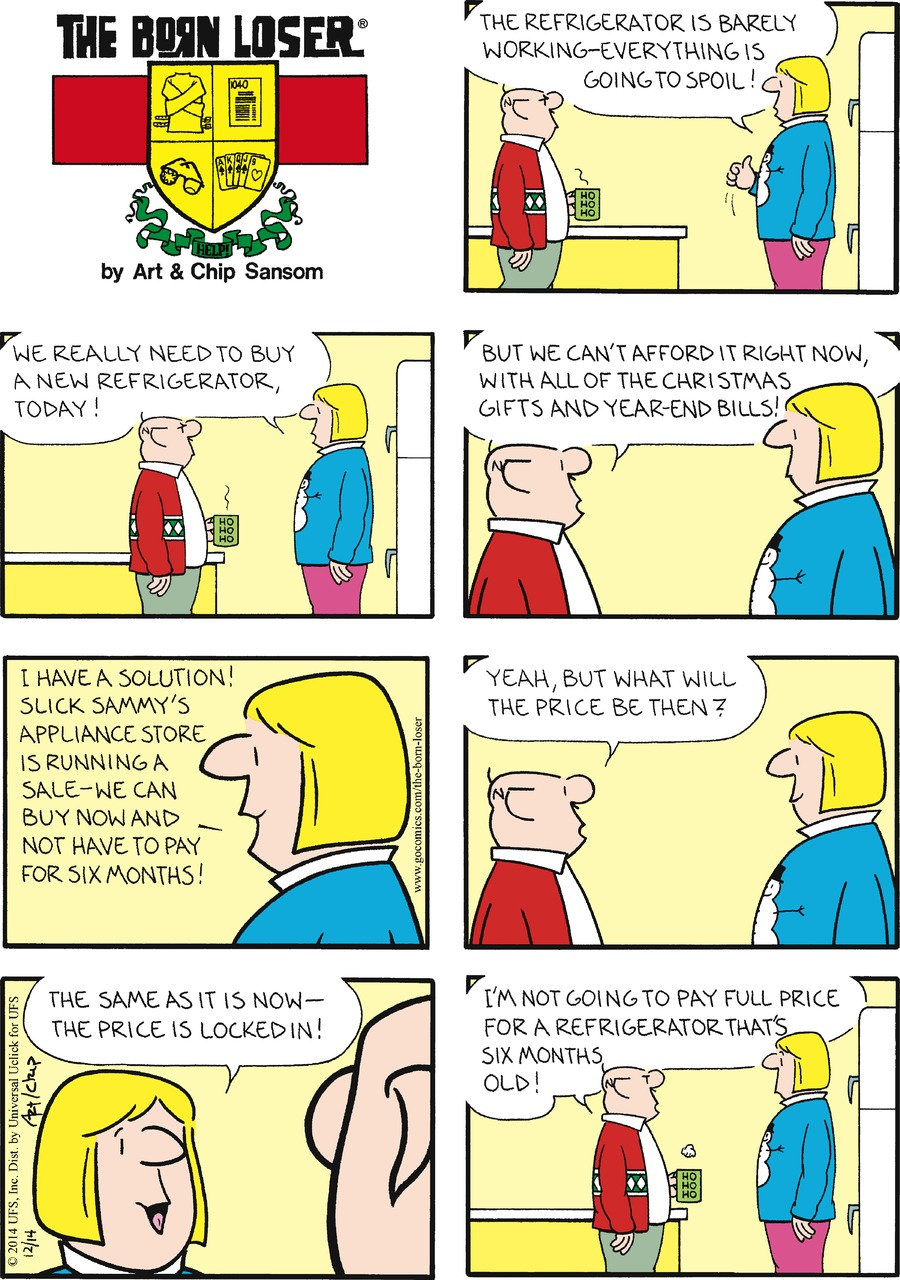 The Born Loser Comic Strip for December 14, 2014