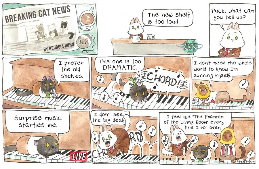 Breaking Cat News for Aug 7, 2016 Comic Strip