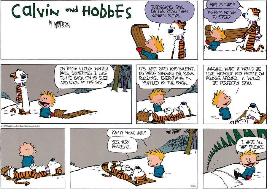 Calvin and Hobbes Comic Strip for December 25, 2016
