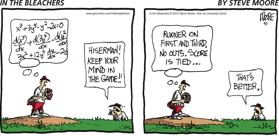 In the Bleachers for Sep 1, 2013 Comic Strip
