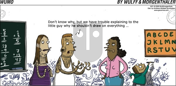 WuMo on Sunday June 21, 2020 Comic Strip