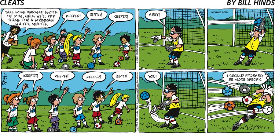 Cleats Comic Strip for June 04, 2006