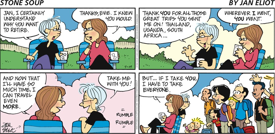 Stone Soup Comic Strip for July 19, 2020