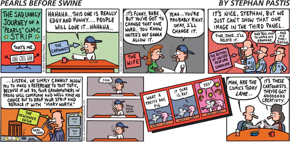 Pearls Before Swine Comic Strip for July 11, 2004