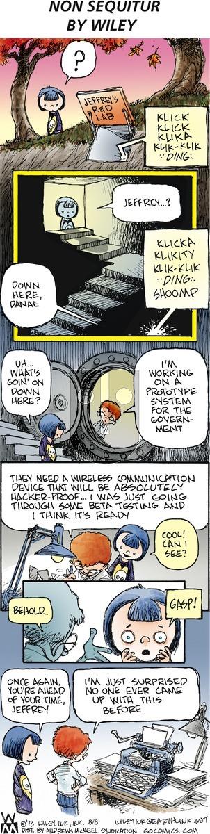 Non Sequitur - Sunday August 6, 2017 Comic Strip
