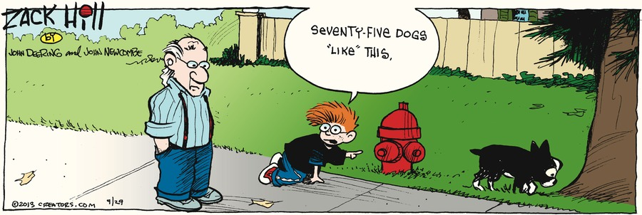 Zack Hill for Sep 29, 2013 Comic Strip
