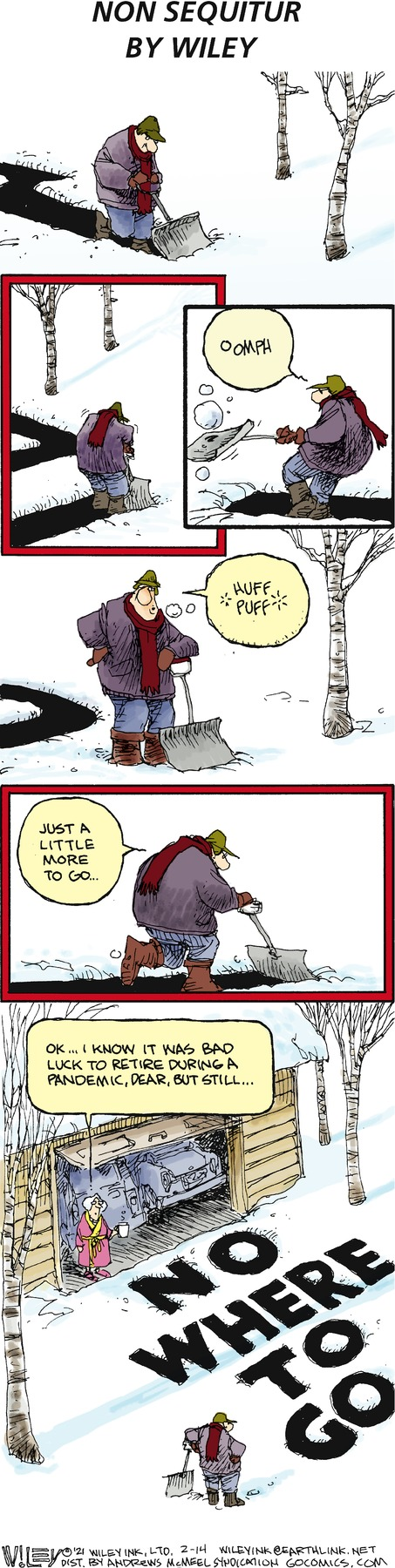 Non Sequitur by Wiley Miller on Sun, 14 Feb 2021