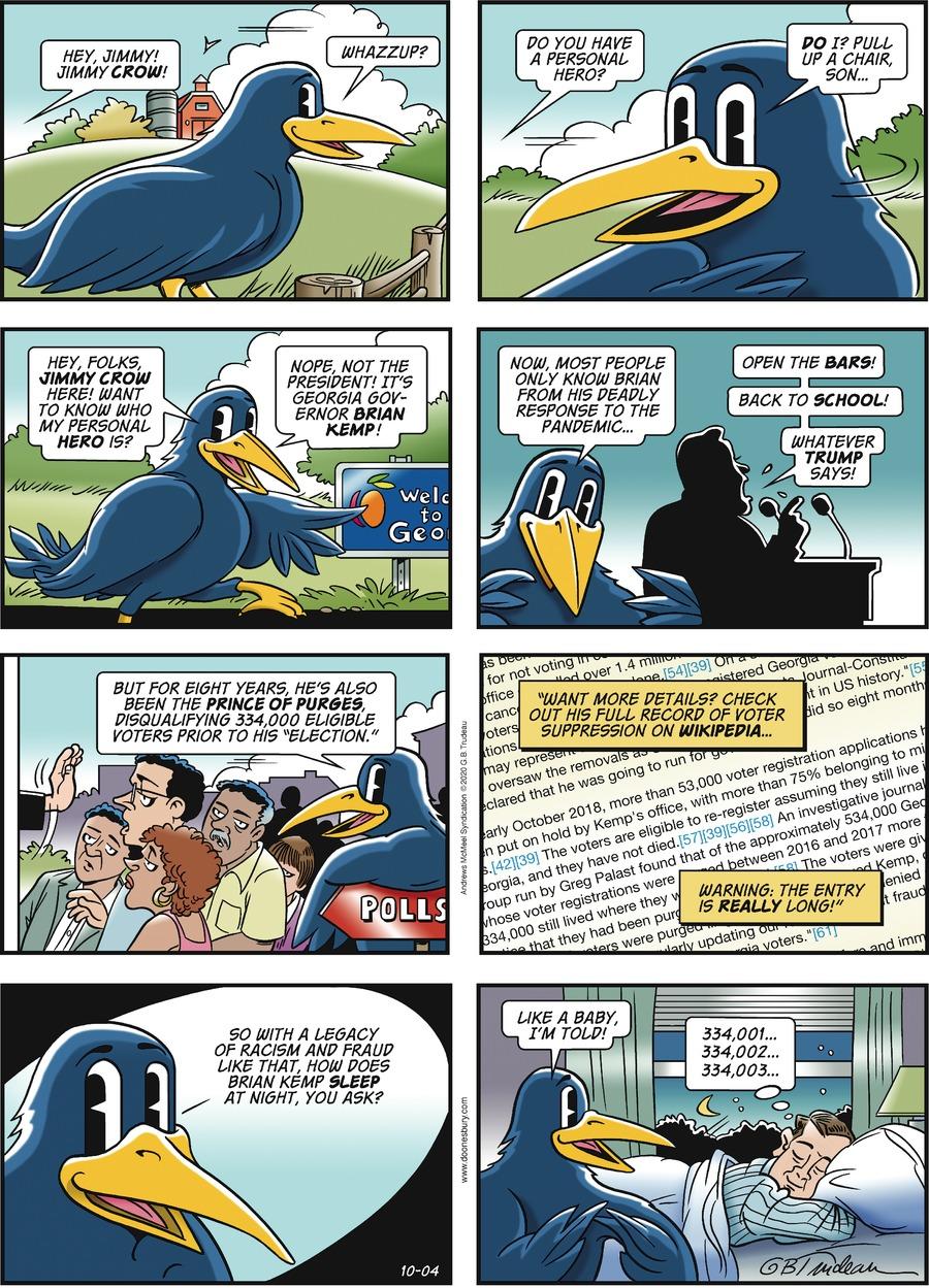 Doonesbury Comic Strip for October 04, 2020